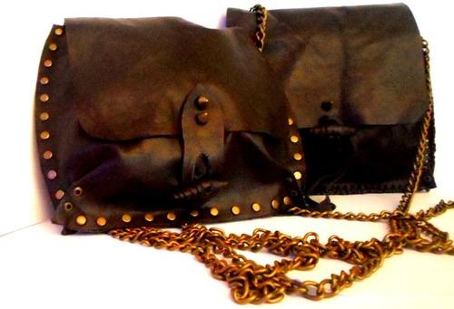cartera en cuero negro 100% original llavero de regalo