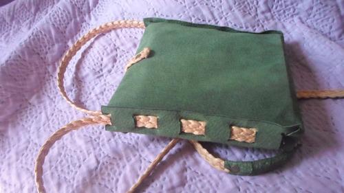 cartera en cuero verde para chica sexy y llavero de regalo