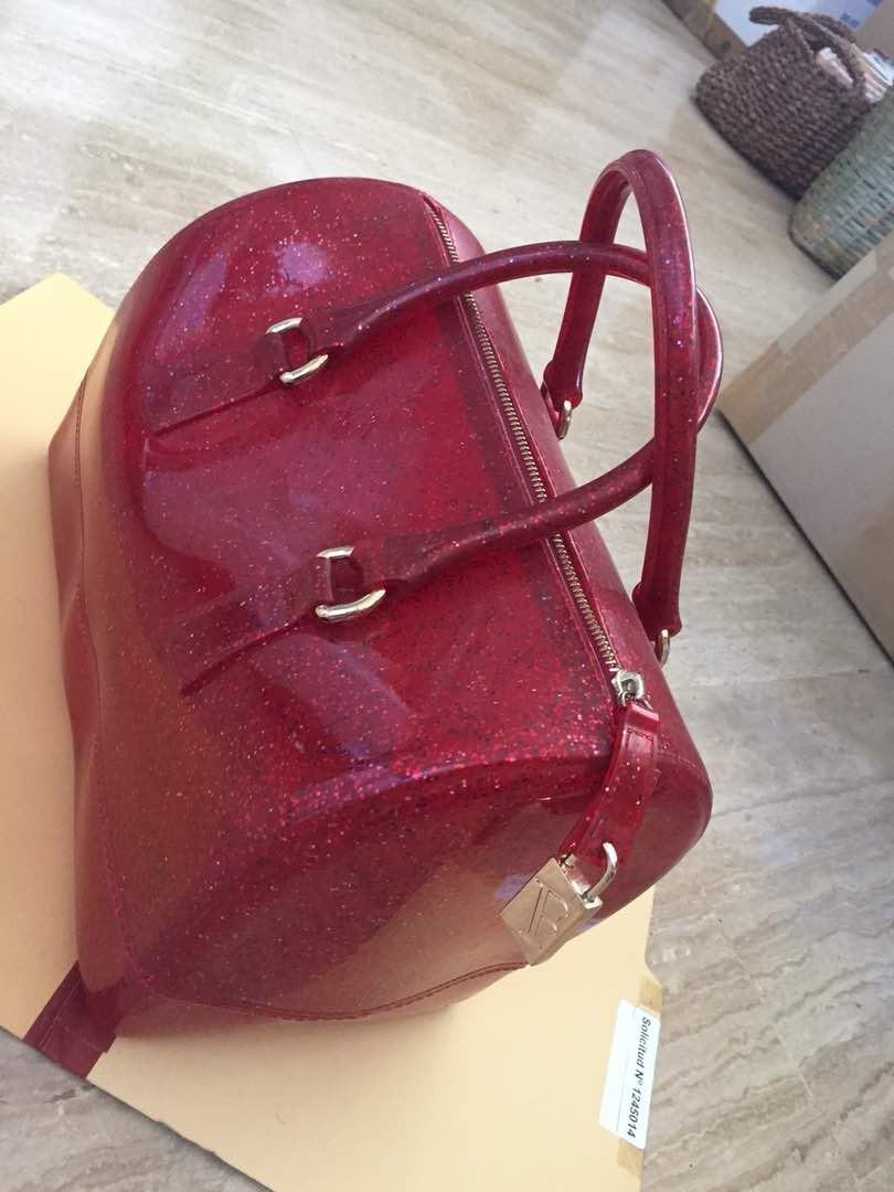55e0a6dbd Cartera Furla Original Candy Bag Tipo Baul - Bs. 2.050,00 en Mercado ...