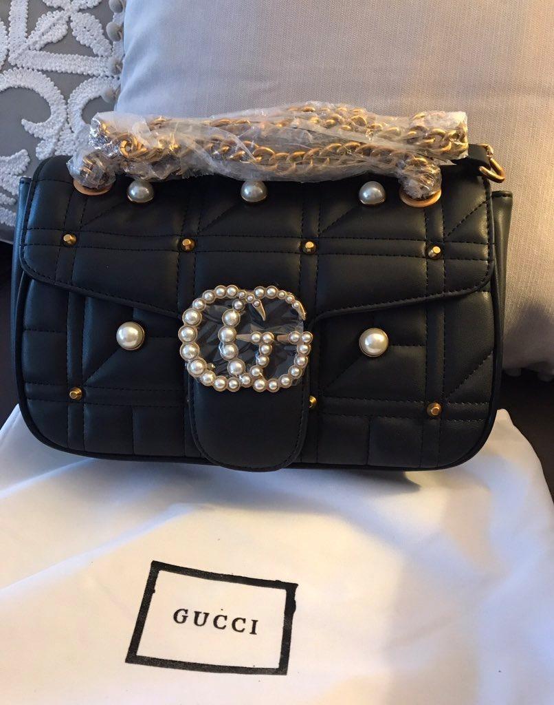 3e507617d04 cartera gucci gg marmont pearl bag - cuero importada. Cargando zoom.