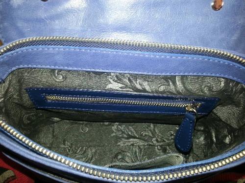 cartera helicia azul
