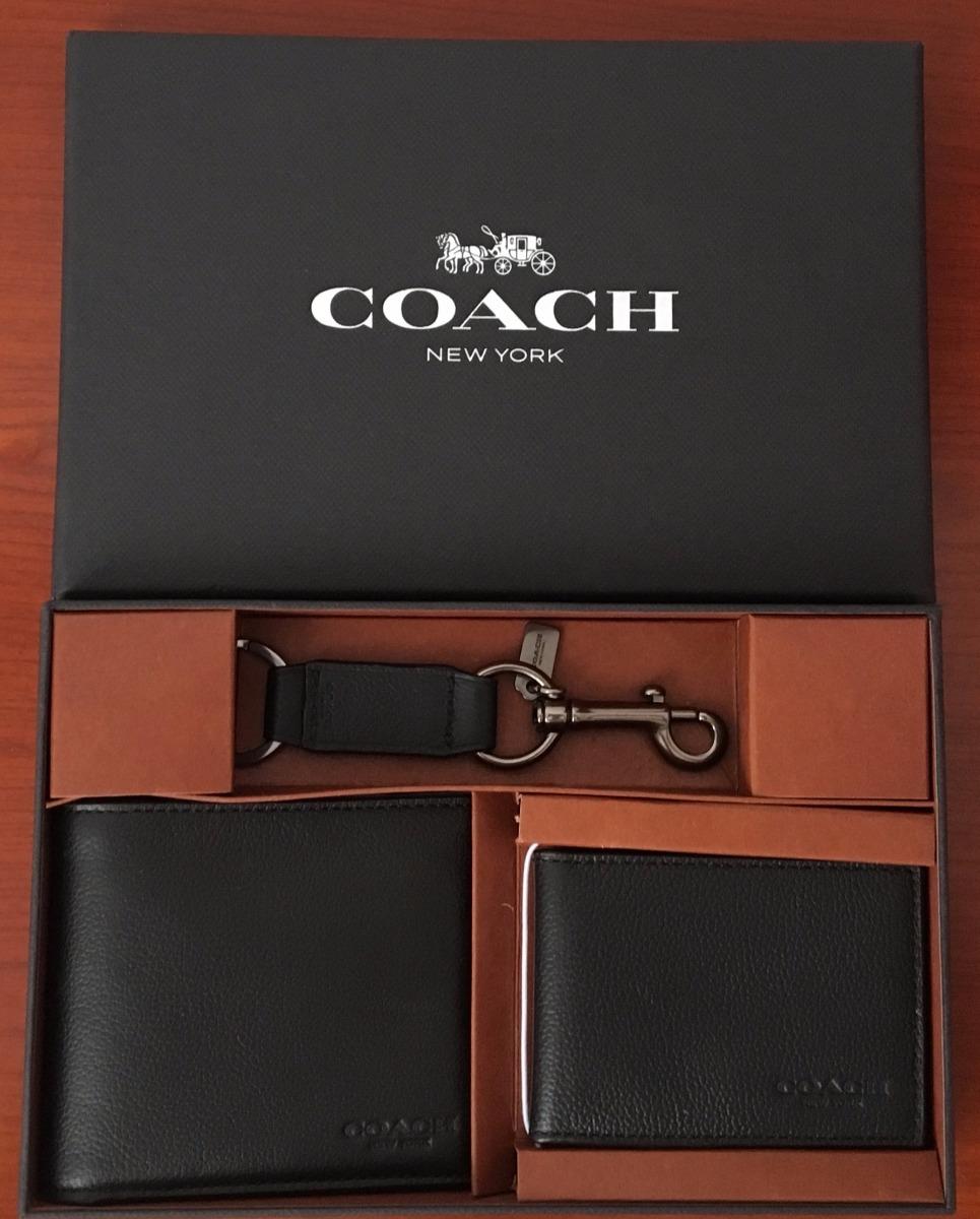 4a128a965 Cartera Hombre Coach Piel Negro F64118 - Envio Gratis - $ 2,800.00 ...