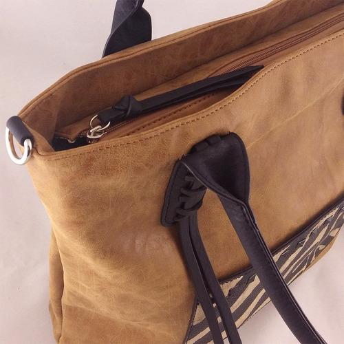 cartera importada bolso cuero sintético suela flecos zaphir