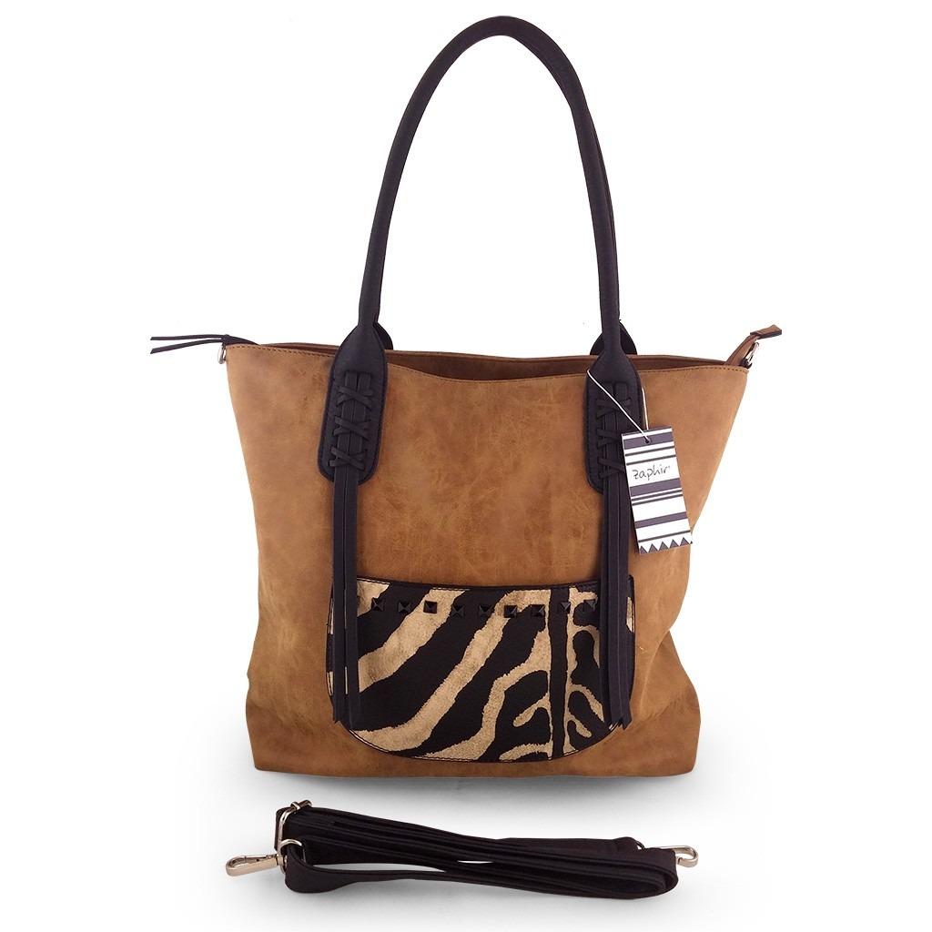 6033b0ec5 cartera importada bolso cuero sintético suela flecos zaphir. Cargando zoom.