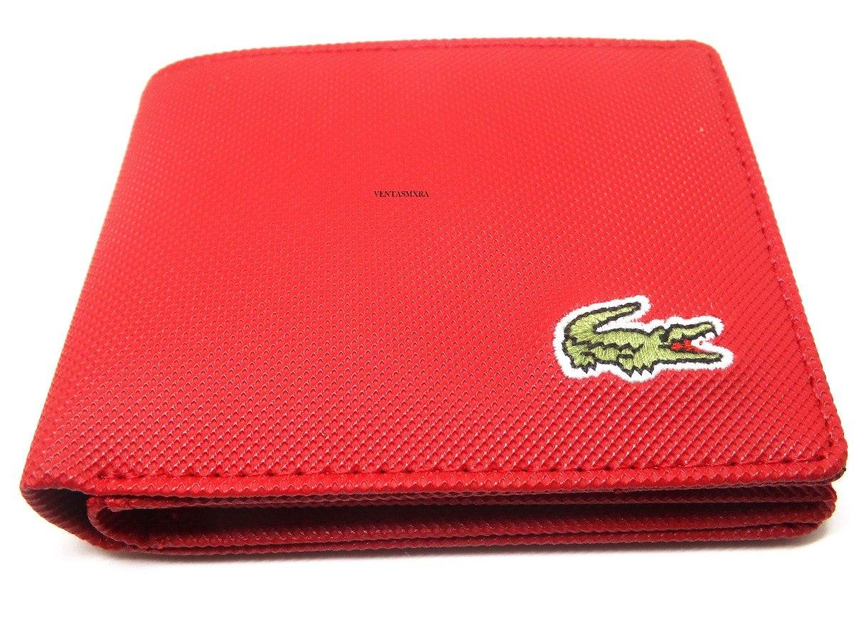 4267d199d Cartera Lacoste Hombre Rojo 26 - $ 335.00 en Mercado Libre