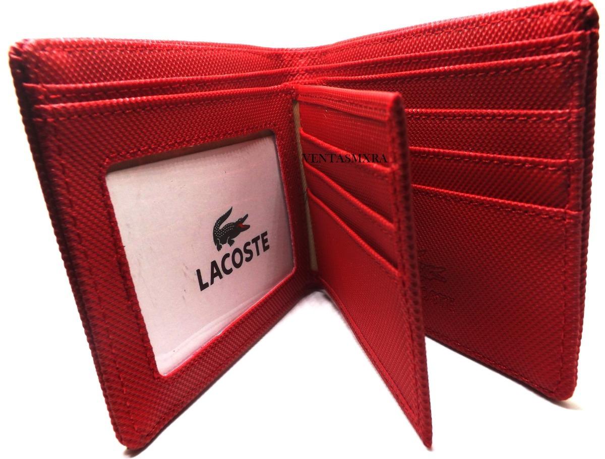 1bb4dec83 Cartera Lacoste Hombre Rojo 26 - $ 335.00 en Mercado Libre