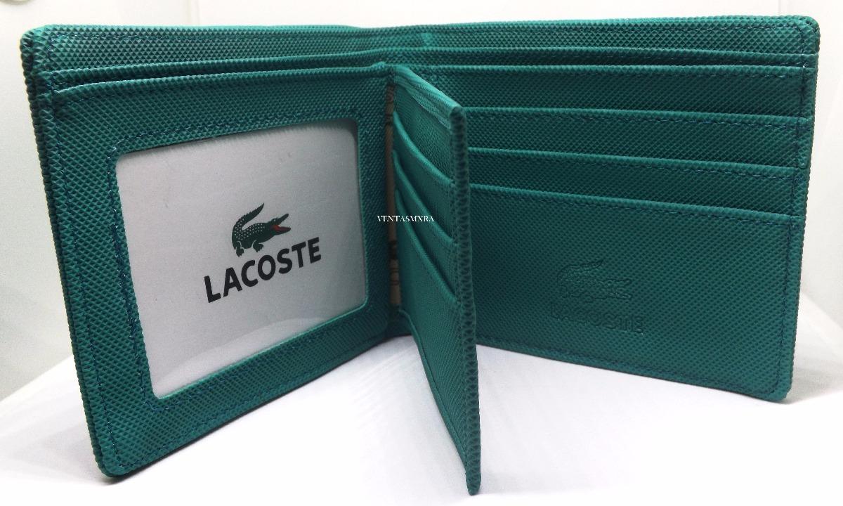 a40b82206 Cartera Lacoste Hombre Verde 22 - $ 335.00 en Mercado Libre