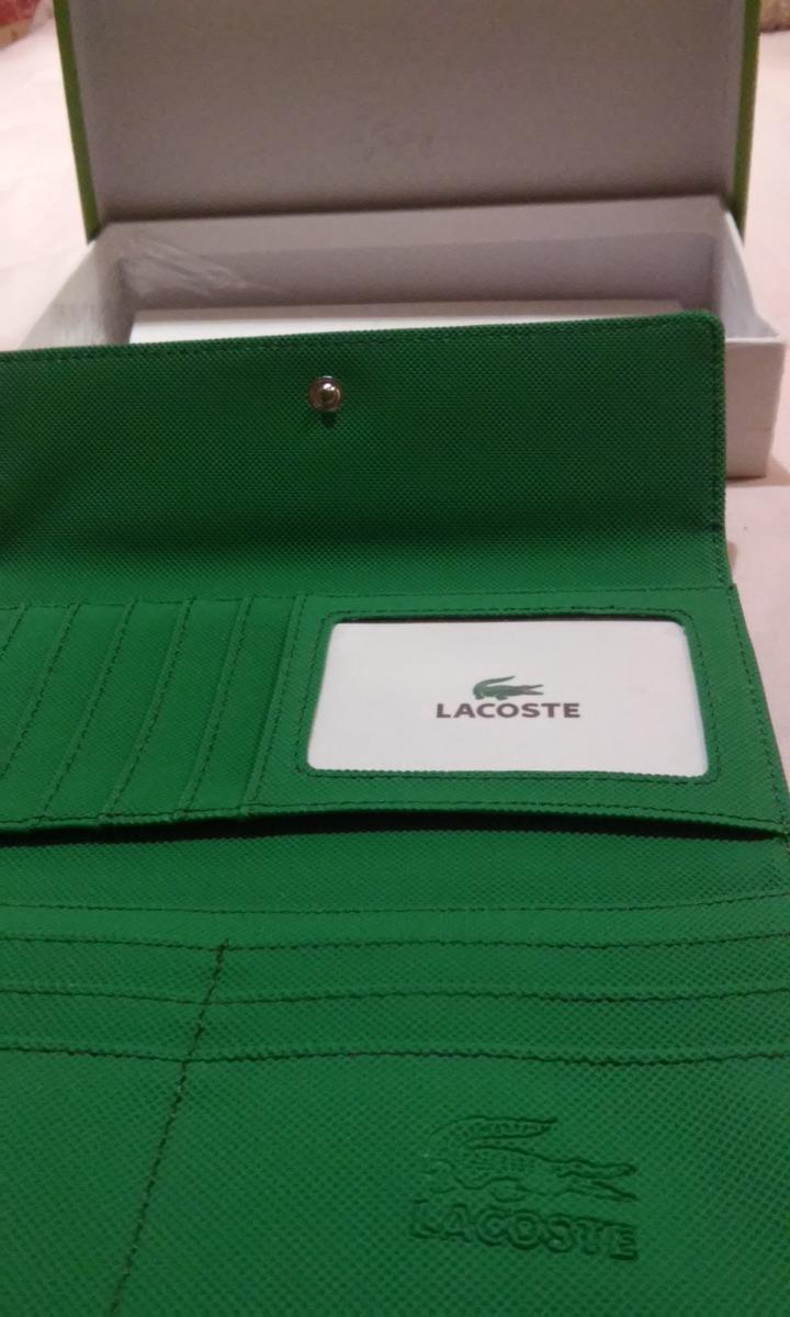 b444a6cf8 Cartera Lacoste,para Dama,color Verde Esmeralda - $ 800.00 en Mercado Libre
