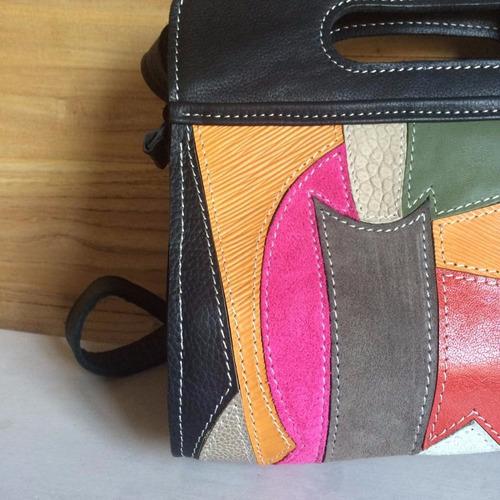 cartera línea popova / 100% cuero genuino diseño autor