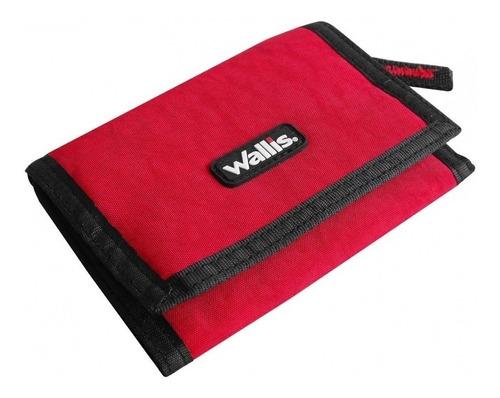 cartera lisa con cierre roja wallis