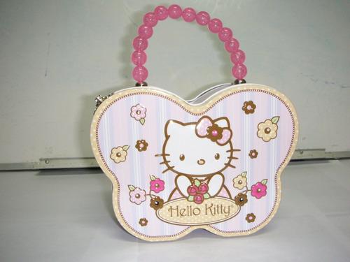 cartera lonchera metalica hello kitty importada