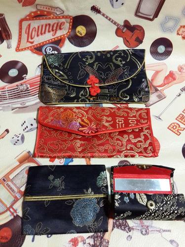 cartera lotex4 billeteras monedero espejo brocato oriental