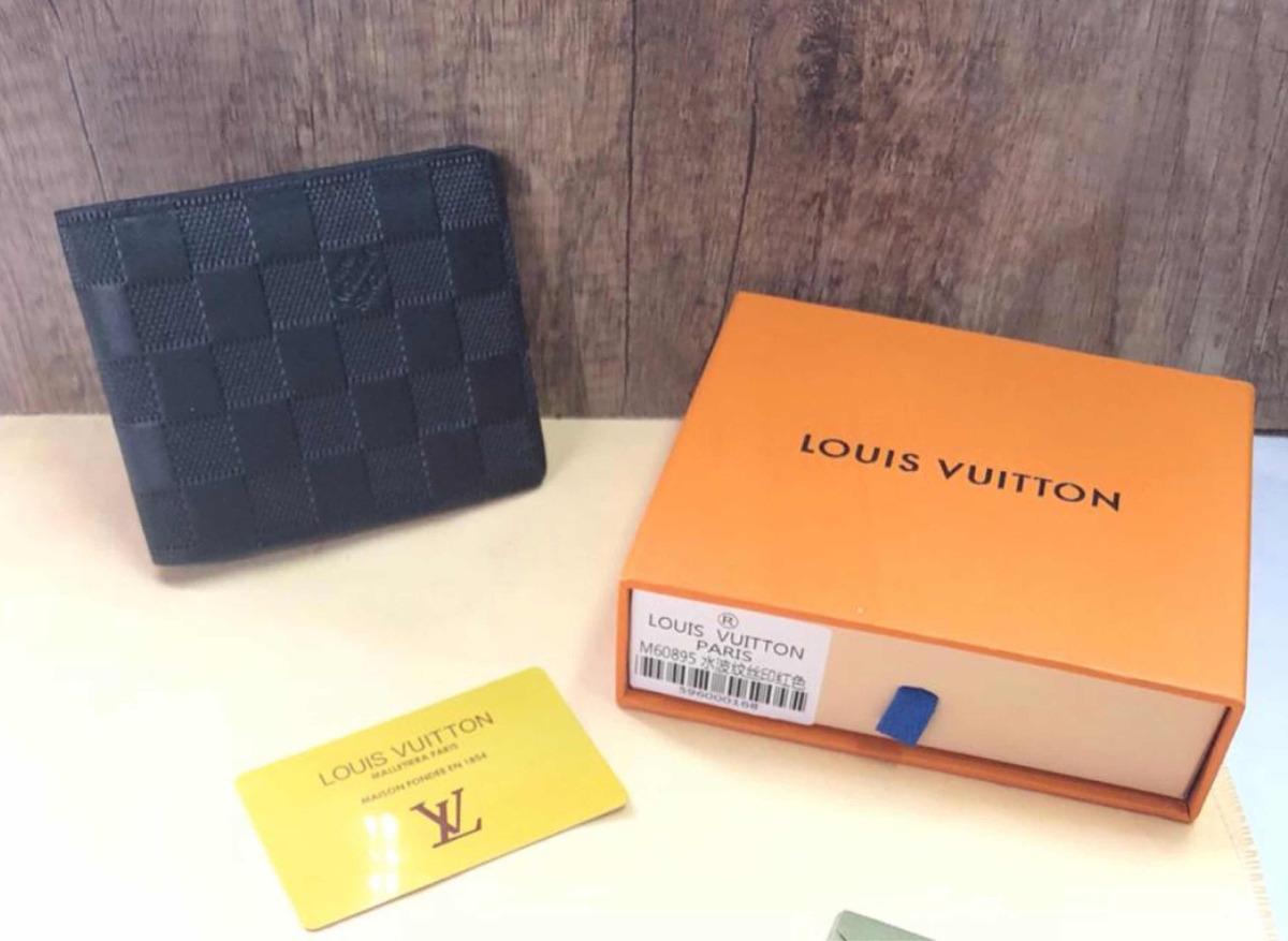 8c308de25 Cartera Louis Vuitton Caballero Monogram Negro Blanco - $ 1,999.00 ...