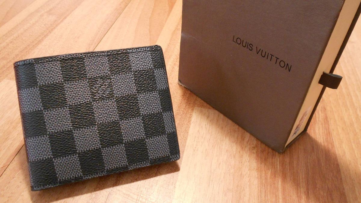 bd9eccd3c Cartera Louis Vuitton Lv Damier Negro - $ 649.00 en Mercado Libre