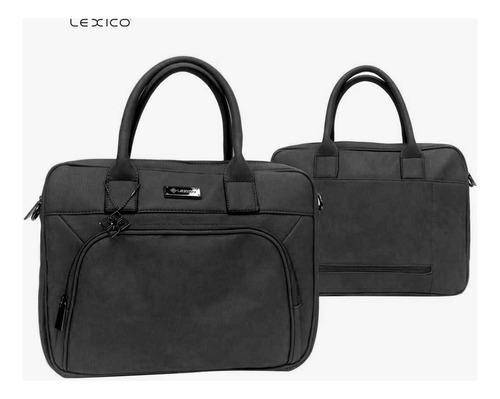 cartera maletín portanotebook lexico 100% pu cuero art. l333