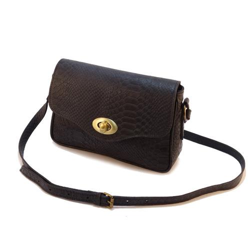 cartera marca loué, modelo agustina, color negro, 100% cuero