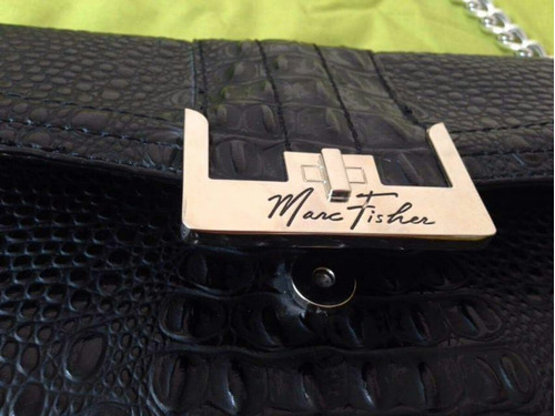 cartera marck fisher original usd 60 nueva de cuero negra