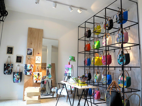 cartera modesta® mini bag arte única eco-friendly - amarillo