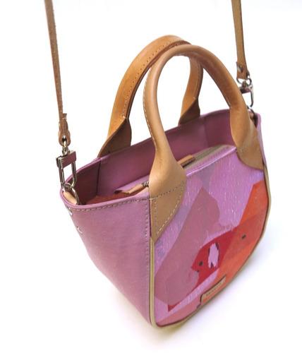 cartera modesta® mini bag arte única eco-friendly - rosa