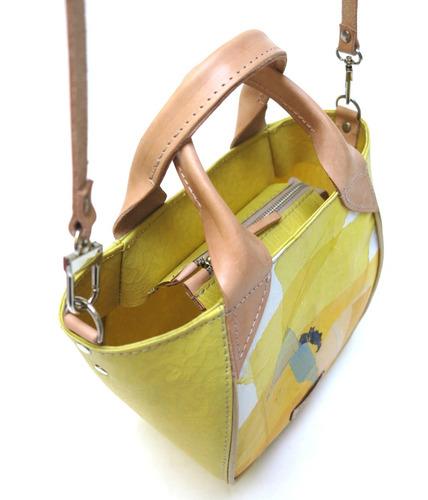 cartera modesta® mini bag arte única reciclada - ama claro