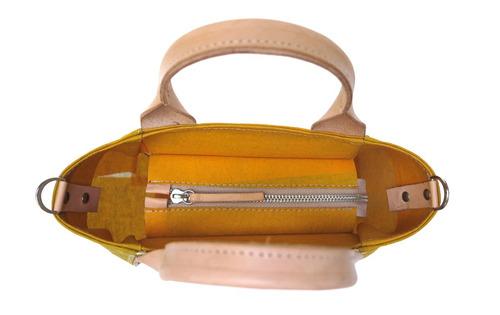 cartera modesta® mini bag arte única reciclada - amarillo