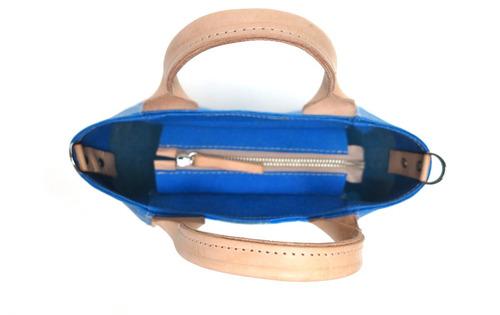 cartera modesta ® mini bag bolsas plásticas original azul