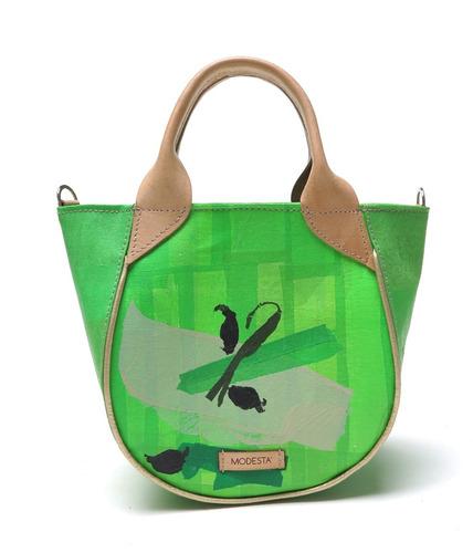 cartera modesta ® mini bag bolsas plásticas original verde