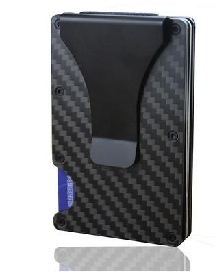 cartera money clip tarjetero billetera rfid fibra de carbono