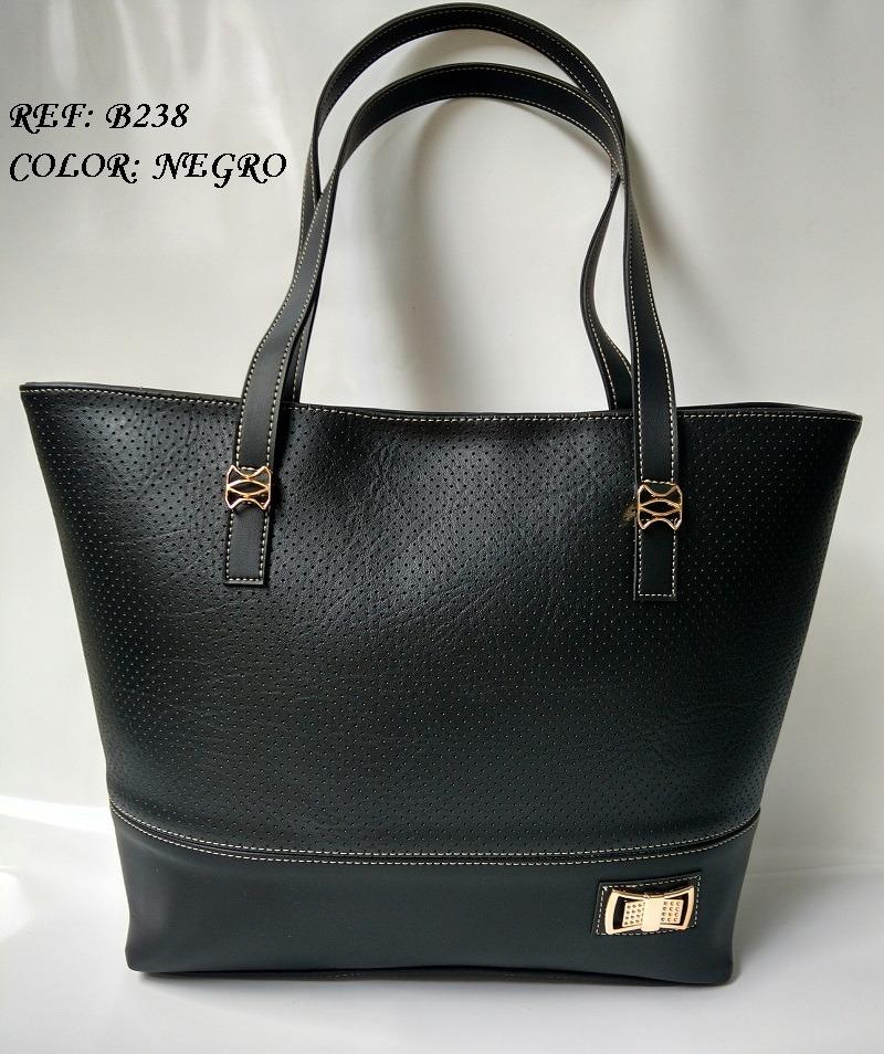 8942bc7343a cartera negra amplía para dama bolsos de moda en colombia. Cargando zoom.