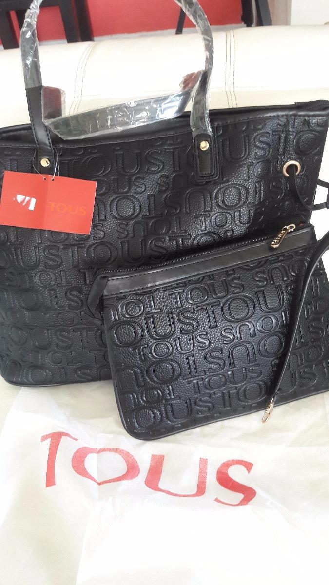 08b13aec1 Cartera Negra Con Bolsito Tipo Tous - $ 54.000 en Mercado Libre