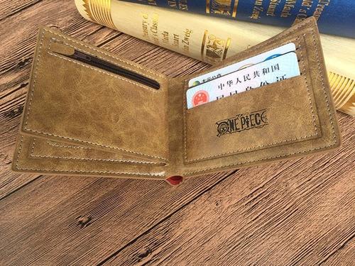 cartera one piece envio gratis con monedero billetera luffy