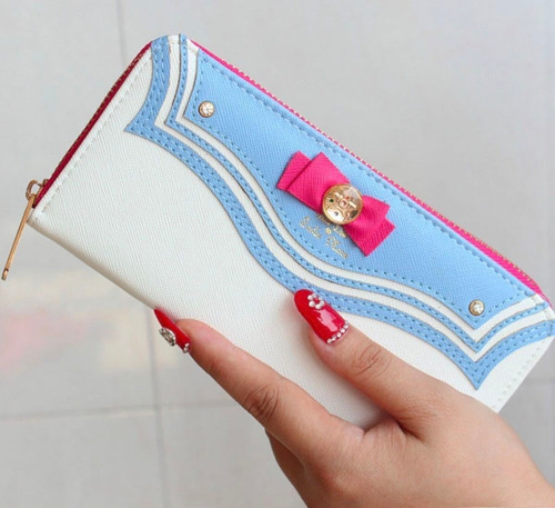cartera sailor moon monedero serena cute azul envio gratis