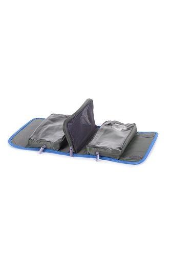 cartera samsonite roll up toiletry kit s / gris / azul