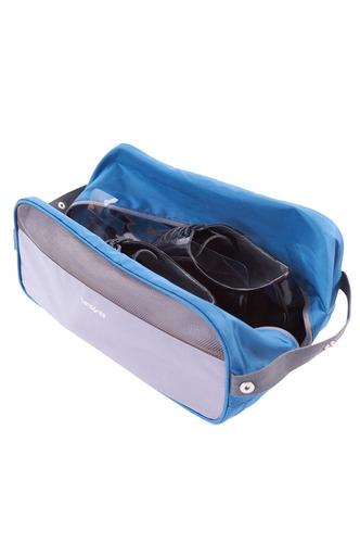 cartera samsonite shoe bag gris / azul