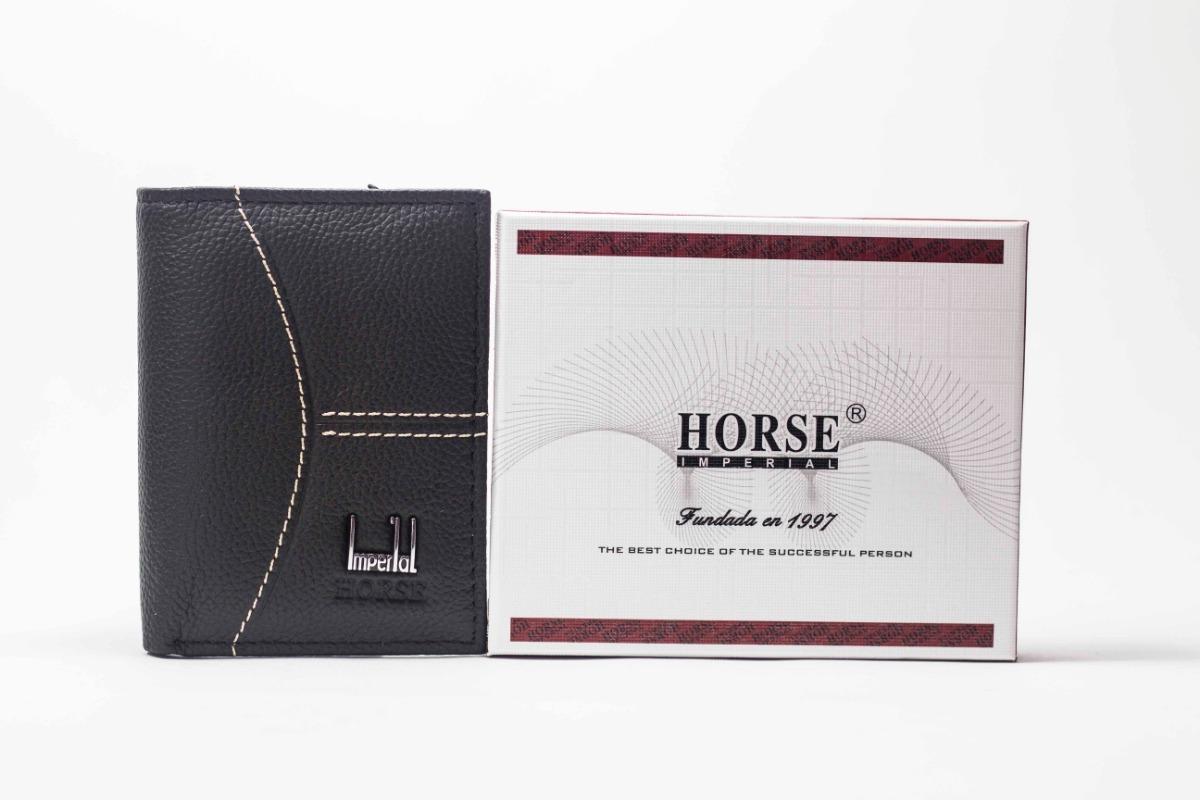 2fb57b894c0 cartera tarjetero para hombre tipo vertical horse imperial. Cargando zoom.