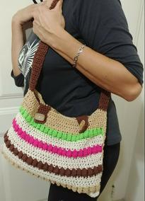 970f8df9a Cartera Tejida Crochet - Equipaje, Bolsos y Carteras en Mercado Libre  Argentina