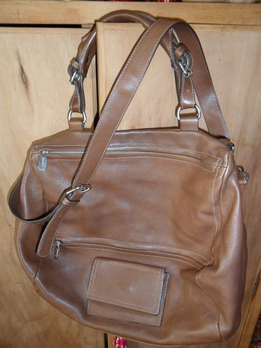 30ae38982 Cartera Tipo Bolso Cuero Chocolate Marca Prune. - $ 1.500,00 en ...