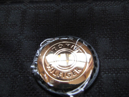 cartera tommy hifilger negra ( 669 )