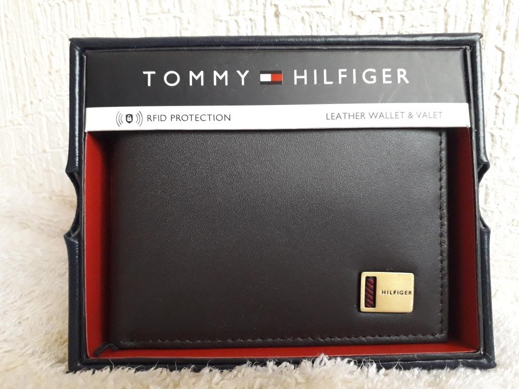 1f06653e557 Cartera Tommy Hilfiger Original Piel Chocolate -   749.00 en Mercado ...