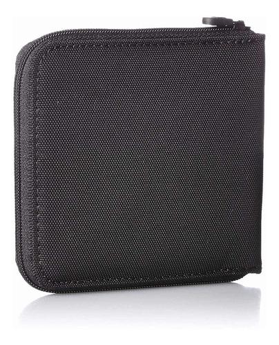 cartera victorinox con cierre de zipper negra de  nylon