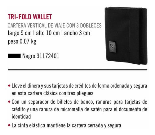 cartera victorinox tres dobleces tri-fold wallet (31172401)
