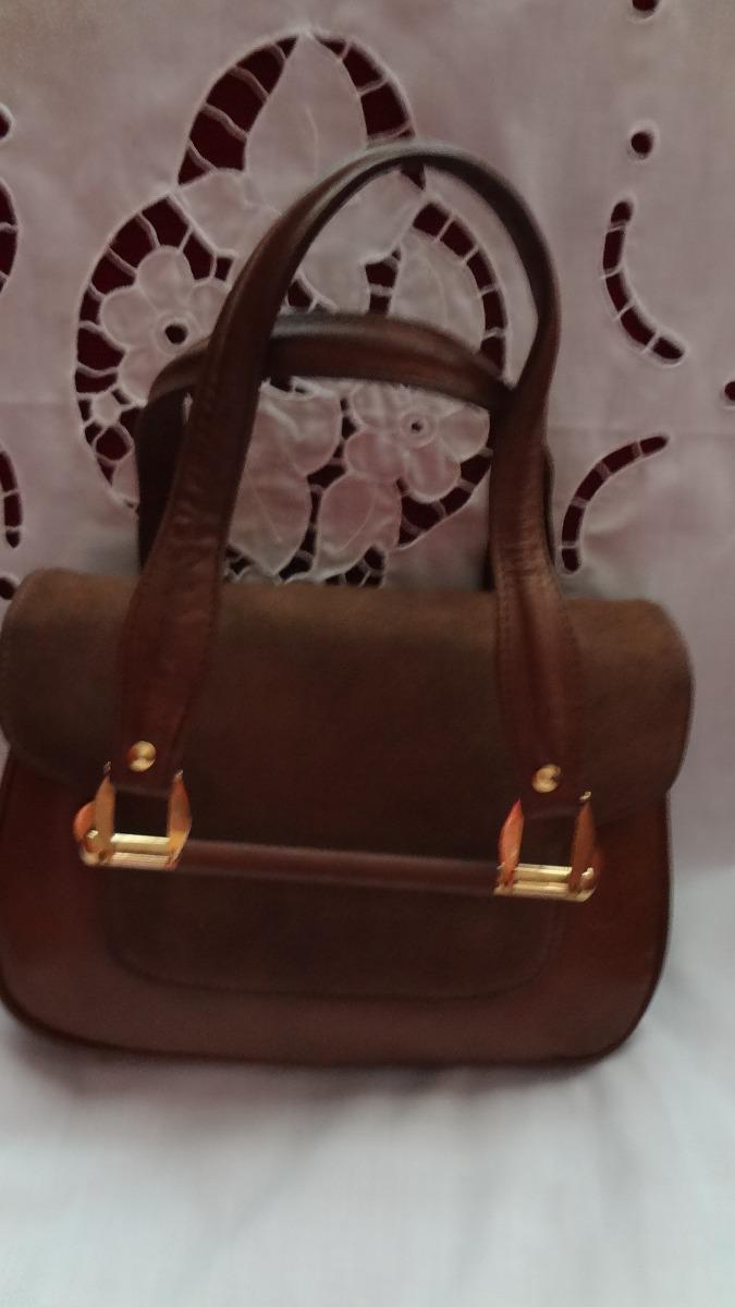e926de6e0 Cartera Vintage Marrón De Cuero Y Gamuza - $ 600,00 en Mercado Libre
