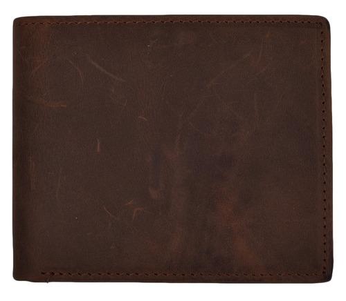 cartera woogwin de los hombres rfid billetera larga de cuero