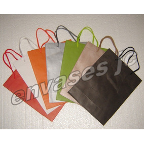 6644d24cb Bolsas De Papel Colores Lisos - Ropa y Accesorios en Mercado Libre ...