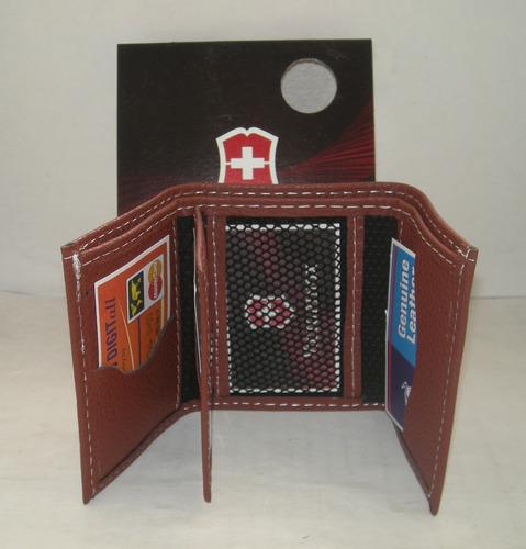 carteras billeteras de cuero victorinox para caballeros