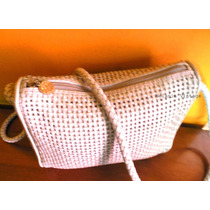 Cartera Morral Tipo Petate Blanco Invierno