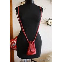 Coach Cartera Pequeña Vintage Cuero Rojo Italiano