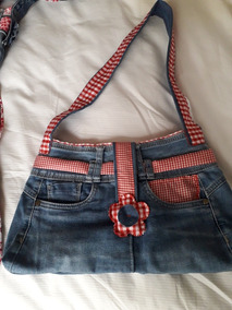 talla 40 b67dc dac16 Carteras Jeans Reciclados Hechas A Mano