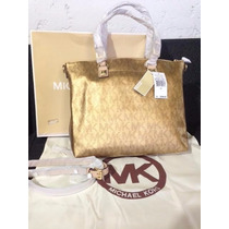 Michael Kors Jet Set Metallic 100% Orignal Comprada En Miami