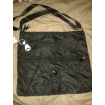 Cartera Grande Original De Usa Kipling. Color Negra